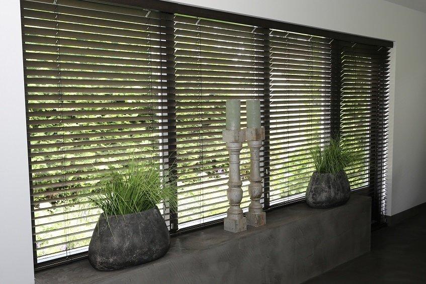 Duurzaam alternatief bamboe jaloezieeen